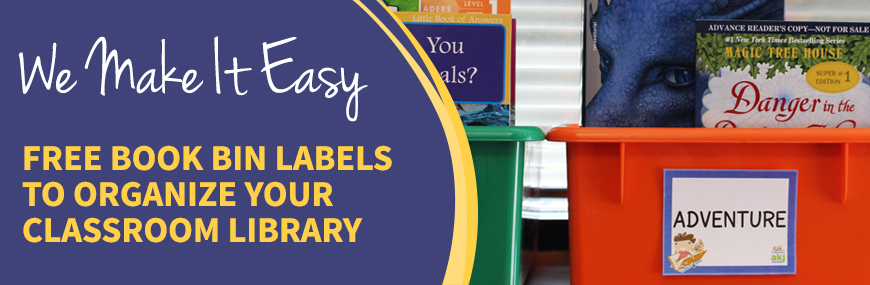 FREE Book Bin Labels | AKJ Education